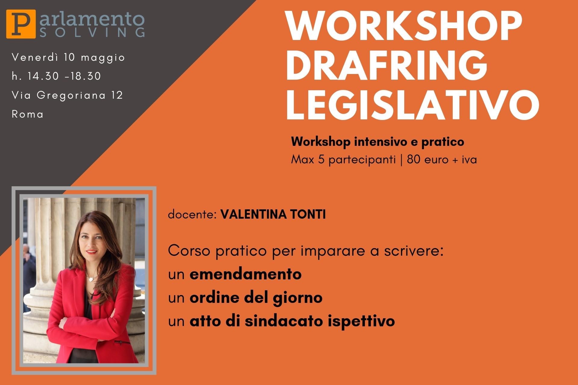 Workshop di drafting legislativo